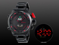 Legal edition Weide 2309 Unisex Round Analog & Digital 30 m Waterproof LED Sports Watch(black.white.Blue.red.)+free shipping