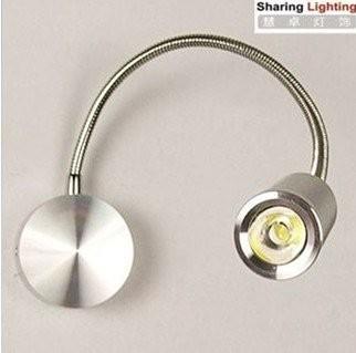 FREE SHIPPING [Sharing Lighting] LED 3W wall lamp, simple and modern style bedside lamp,bracket lamp,corridor wall light(China (Mainland))