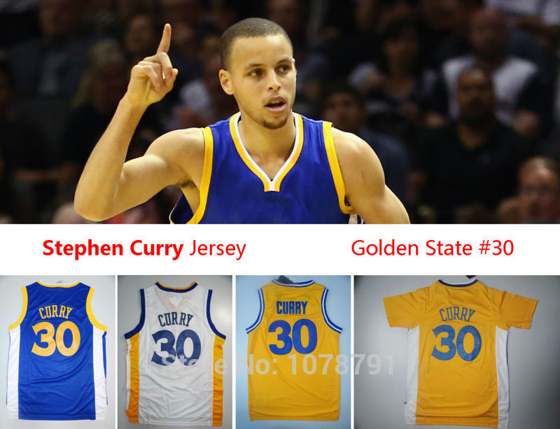 Hot Sale Golden State Discount Basketball Jerseys #30 Stephen Curry Jersey, White Blue, Top Quality, Embroidery Logos,Size S-3XL(China (Mainland))