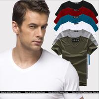 2014 spring Summer  t shirt men casual fitness slim fit pyrex fashion undershirt Pure Sports Bottoming shirt XXL