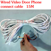 Wired Video Door Phone connect cable 15M 6-core Connection Cable