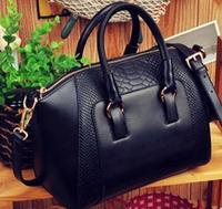 2014 New women handbag fashion brief crocodile pattern women shoulder bag women messenger bag women leather handbag wholesale