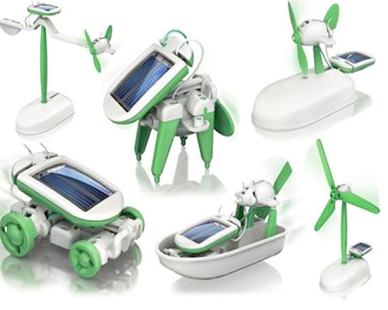 1 Pcs 6 Different Creative DIY Solar Toy Solar DIY E