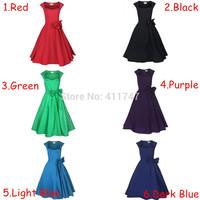 50s 60s Vintage Dress Pinup Dress Rockabilly Retro Dress S-6XL