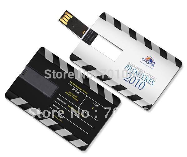 16GB 8GB 4GB 2GB 1GB credit card usb flash driver with full color logo printing and free shipping DHL(Hong Kong)
