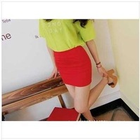 Free shipping 2014 fashion New Woman Candy colors Mini skirt  Package hip skirts  5pcs/lot