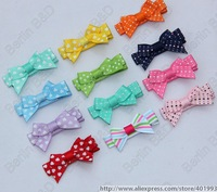 20pcs/lot Adorable Tiny baby Clip,simple newborn baby  Hair Clip,Infant  Mini itty-bitty Hair Bow 30 Colors 4042