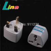 100pcs/lot Universal US EU AU To UK AC Power Plug Adapter Travel Outlet Converter Charger