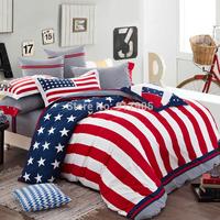 New 2014  Home Textile American Flag Bedding Set, Modern Designer Bedding Sets,Cool Bedding Bedroom Set