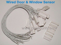 50PCS/LOT Wired Magnetic Door Window Contact Magnetic Sensor for Alarm System CE Approved