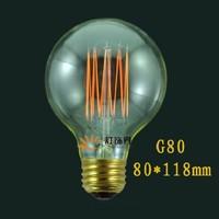 Vintage Edison Bulb g80 tungsten wire silk light bulb e27 light lamp bulb