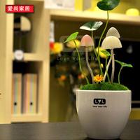 Hot-selling mushroom lamp ceramic night light girls gift home decoration