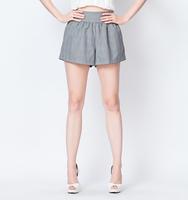 YIGELILA 5169 Ladies Mid  Loose Shorts Plaid Zipper Fly Shorts With Pockets Free Shipping