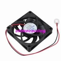 10pcs/lot DC 12volt 2pin 7cm 70mm*70mm*15mm 7015 Brushless Computer Cooling Fan