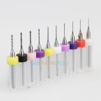 O3T# 10Pcs PCB Print Circuit Board Carbide Micro Drill Bits 0.3mm to 1.2 mm