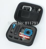 Portable Go Pro accessories 3 EVA bag GoPro update Digital camera storage bag go pro hero bag black for SJ4000 gopro 3 2 1