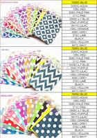 "10500PCS 42 colours 7"" x 5"" Chevron Polka Dot  Mod Paper Popcorn Bags Favor Bags Party Treats bags you can choose you want"