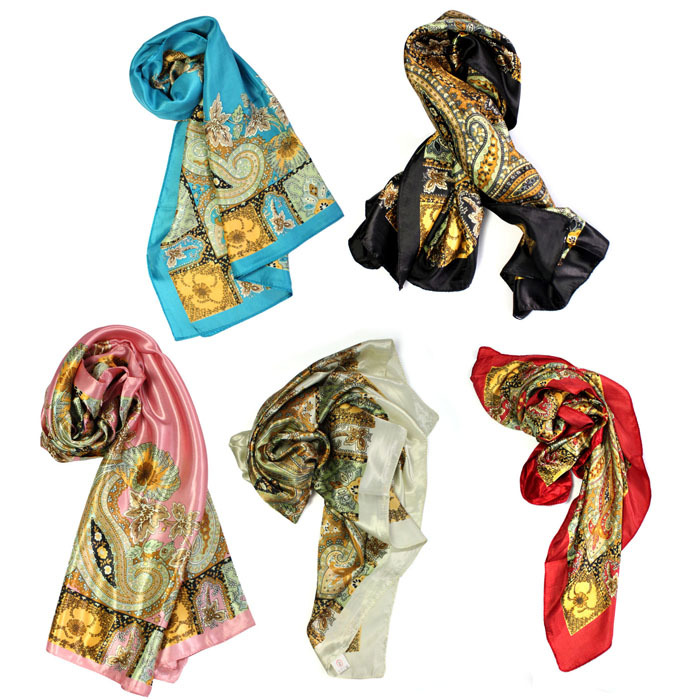 Moodeosa 1PCS Classical Pattern Large Square Scarf Silk Head Scarves Shawl Wrap Freeshipping&Wholesale(China (Mainland))