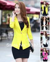 New 2014 blazer women za famous brand black & pink & white blazer lace fashion female blazer & casual Suit S-XXL Free shipping