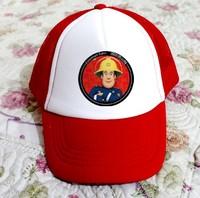 NEW ARRIVAL fashion fireman sam cap sun hat boy hats summer hat sam 2 colors RED BLUE soft FREE SHIPPING