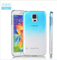 Mini Order is $10(Mix Order) Free Shipping! 1Piece/Lot High Quality Clear 3D Waterdrop Case Cover for Samsung S5 i9600