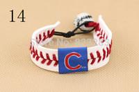 Major league baseball fashion sportswear leather bracelets