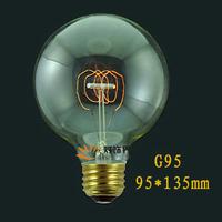 1900 Antique Vintage Edison light Bulb 40W 220V/110v radiolight Large Squirrel cage Tungsten G95