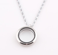 Floating Locket Necklace Origami Owl Living Glass Floating Charm Memory Locket Pendant Chain Necklace ZN84