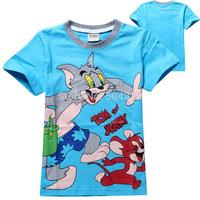 Free Shipping 6pcs/lot Hot kids clothes girls boys Cartoon mouse T shirts short sleeves summer kids girls boys  tees wholesale