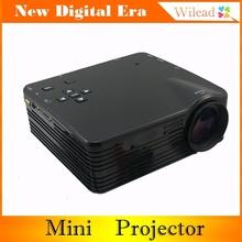 "Black 100"" Red/Blue 3D Portable Mini LED Projector Home Cinema Theater Support HDMI/AV/VGA/USB/SD AB0011(China (Mainland))"