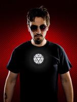 Iron Man Shinning T-shirt Men's T-shirt EL Luminous Glowing Shirt Color Changing LED EL Clothes Music Party Equalizer Unisex