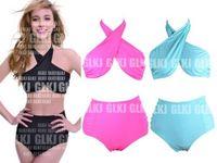 Details about 2014 RETRO Top HIGH WAISTED Swimsuit Swimwear Vintage Push Up Bandeau Bikini K1