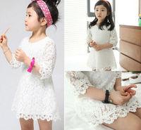 Details about Baby Girls Half Sleeve A-line Dresses Kids Summer Sundress One-piece Dress Skirt