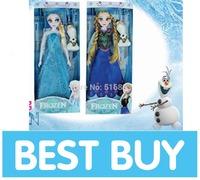2014 Hot Sale Frozen Girls Toys 11.5 inches Frozen Queen Elsa Princess Anna FORZEN OLAF Toys Plastic Dolls Free Shipping 20pcs