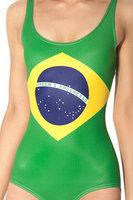 Summer 2014 Sexy WORLD FLAGS - BRAZIL Digital Print Bikini Set Bodysuit Beach Wear SWIMSUIT Swimwear Wetsuit For Women S125-154