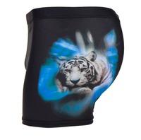 2014 New animal polyester tiger printed boxer swimming trunk spa beach shorts swim wear trunks Men swimwears sungas Feeshipping