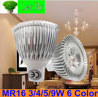 4pcs/lot 3w 4w 9w 12V MR16 Dimmable High Power spot light  LED  warm/ cold white  potlight  tubes bulb 12V Lighting lamps  LS73