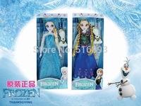 2014 Hot Sale Frozen Girls Toys 11.5 inches Frozen Queen Elsa Princess Anna FORZEN OLAF Toys Plastic Dolls Free Shipping 50pcs