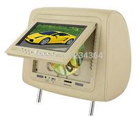 Universal  7 inch car headrest LCD monitor car USB SD DVD  TFT LCD Screen 32 Bits Game SD FM Transmitter