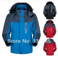 Hot High quality camping jacket new 2014 men waterproof & waterproof hiking jackets outdoor fun & sports jackets for men XS-4XL