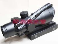 ACOG 1X32 Green Dot Sight (Green True Real Working Optical Fiber Black Body -Free Shipping