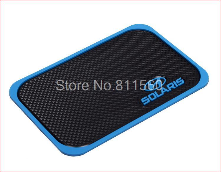 Fit for HYUNDAI Solaris Verna 1999-2015 3D Rubber Cellphone Non-slip Mat Mobilephone mat Car Anti Slip Mat Interior Mat(China (Mainland))