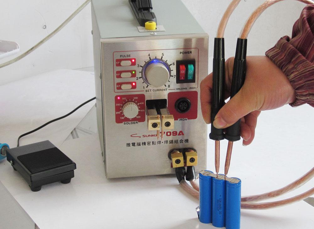 Как сделать контактную сварку из аккумулятора