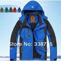 2014 Sale New Arrival Outdoor Jackets Waterproof &wind Spring & Fall Men's Hooded Sports Jacket Brand Velvet Emergency Clothing
