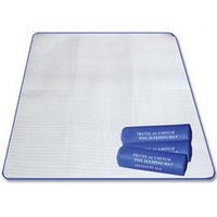 Outdoor camping folding picnic mat moisture pad moisture pad 200 * 150CM sided aluminum moisture pad wholesale