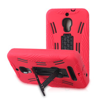 Hybrid Kickstand Cell Phone Cases For Alcatel One Touch Fierce D386/7024W Silicone+Plastic PC Mobile Phone Case Free Shipping