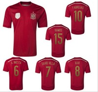 2014 World Cup men's sport clothing  new spain soccer jerseys football suits Soccer uniform sets male