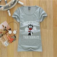 Free Shipping New Summer Fashion Multicolour Cotton Short Sleeve Women T-Shirt Girl Blouses Women Clothing #6091