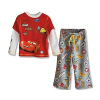 Children's New Fashion 2014 Boy Clothing Set Cartoon Car Children t shirts + Kids Pants Kids Clothes Sets Boys Tracksuits