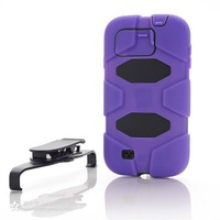 30PCS New Kickstand Cover Rugged Heavy Duty Phone Case For SAMSUNG GALAXY S4 I9500 DHL Free Shipping
